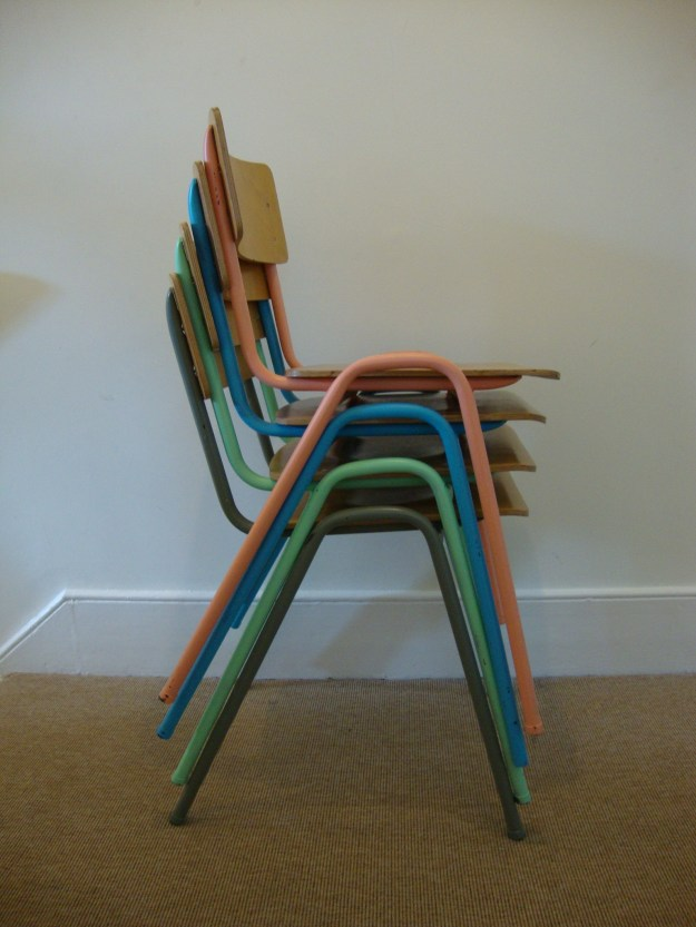 D.I.Y Colour Pop Chairs - Bright Plywood School Chairs