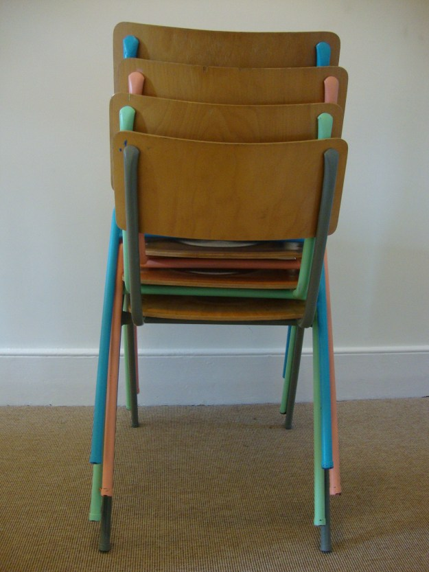 D.I.Y Colour Pop Chairs - Bright Plywood Stackable School Chairs 1