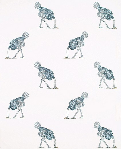 Ostrich in Pencil on Bone Wallpaper Beware The Moon