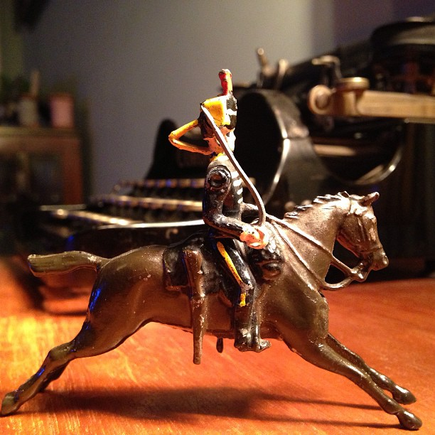 Vintage Lead Toy Soldier on Horseback