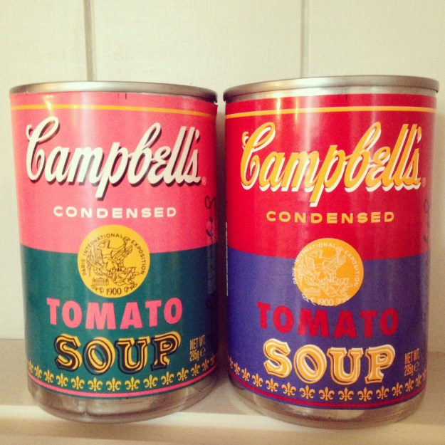 Andy warhol Campbells Soup Tins limited edition