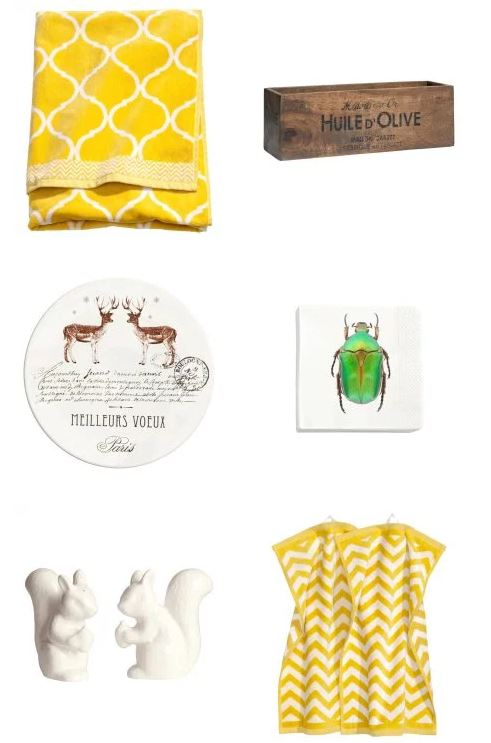 H&M Homewares Moroccan Towels, Squirrel Salt pepper, deer cake stand,vintage box crate storage