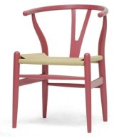 Wishbone chair pink
