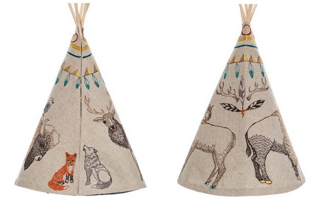Coral & Tusk Embroidered Teepee Tipee Native American animals Folksy