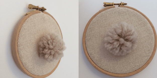 Pompom embroidery hoop