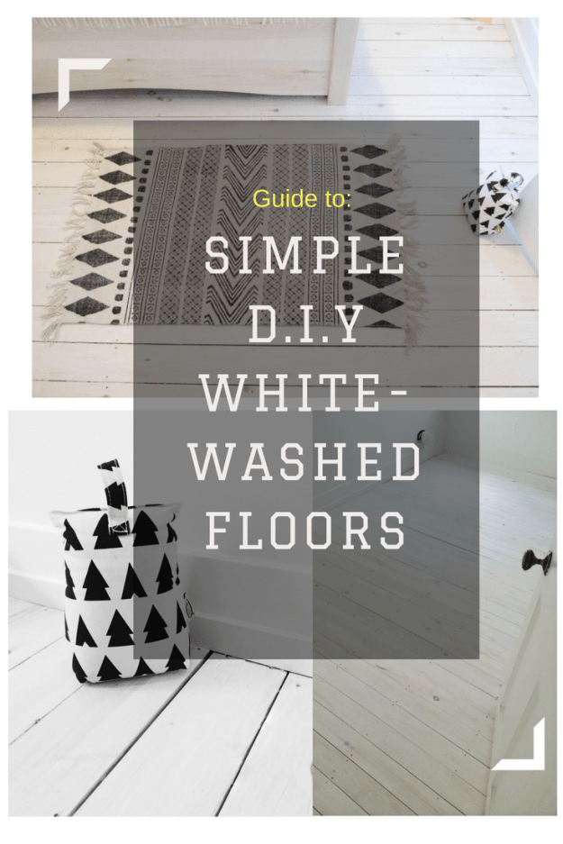 how to project Whitewashed scandinavian wooden flooring d.i.y. Nordic interior inspiration