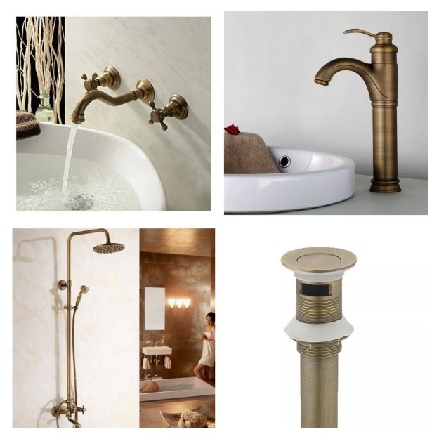 Antique Brass bathroom fittings