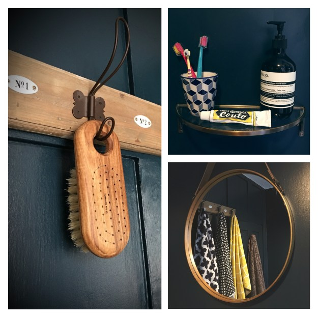 Farrow-Hague-blue-bathroom-brass-fittings.iris hantverk Louvisa bath brush