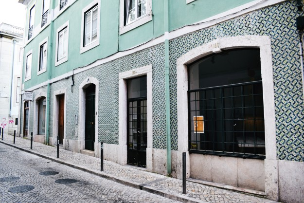 Lisbon portuguese patterned tiles architecture