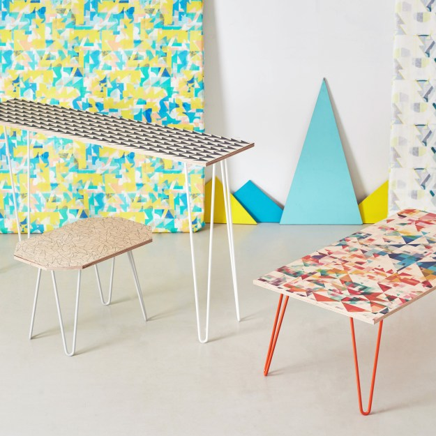 Studio-Flock-geometric surface patter ply furniture