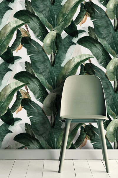 Top Guide to best botanical leaf print wallpapers Tropical decor  PN32