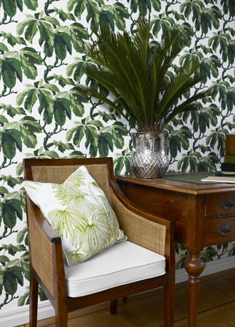 Boras Tapeter Oxford leaf print leaves botanical wallpaper
