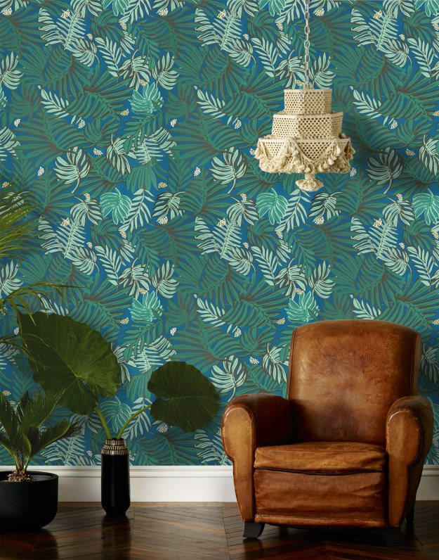 Hygge & West Aja Teal wallpaper by justina blakeney