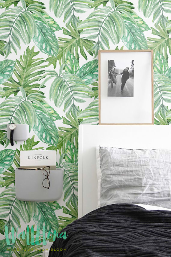 Monstera leaves Pattern Wallpaper