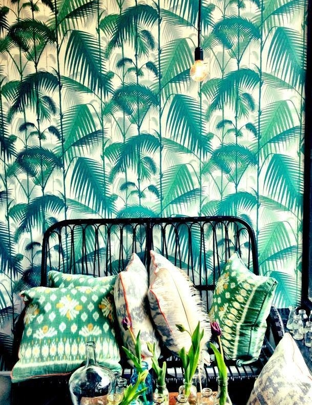 jungle palm print wallpaper by Cole & Son