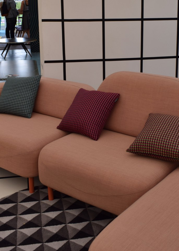 Deadgood blush pink sofa, Design Junction 2016