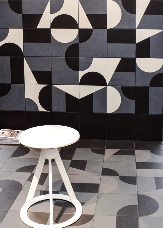Puzzle tiles at Domus, Decorex 2016