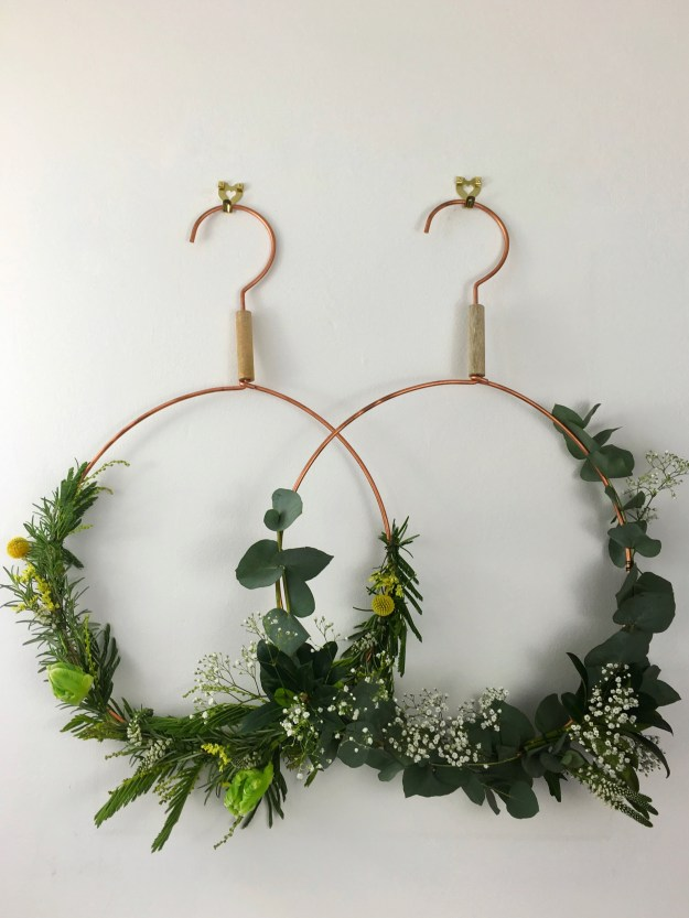 Easy how to make fragrant scandinavian festive wreath Designer christmas wreaths uk