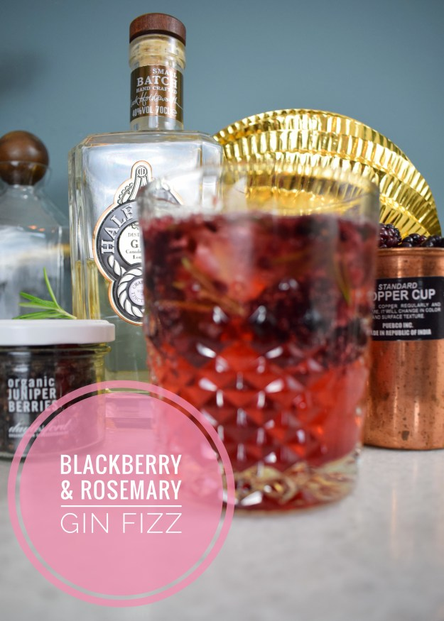 Blackberry & Rosemary Gin Fizz cocktail recipe by Jamie Oliver for Christmas party ideas