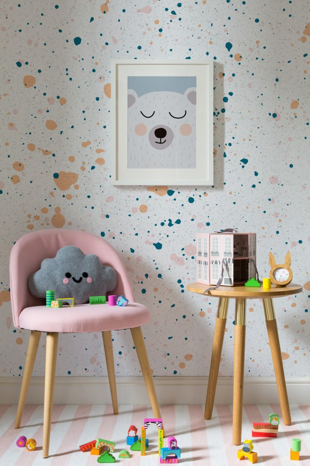 bw-dalmatian-speckle-Murals wallpaper