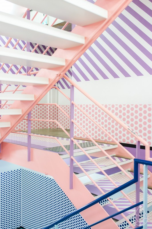 PINK inspiration in design and architecture, ideas for using pink interiors -Opening-ceremony-Tokyo-2-531x800