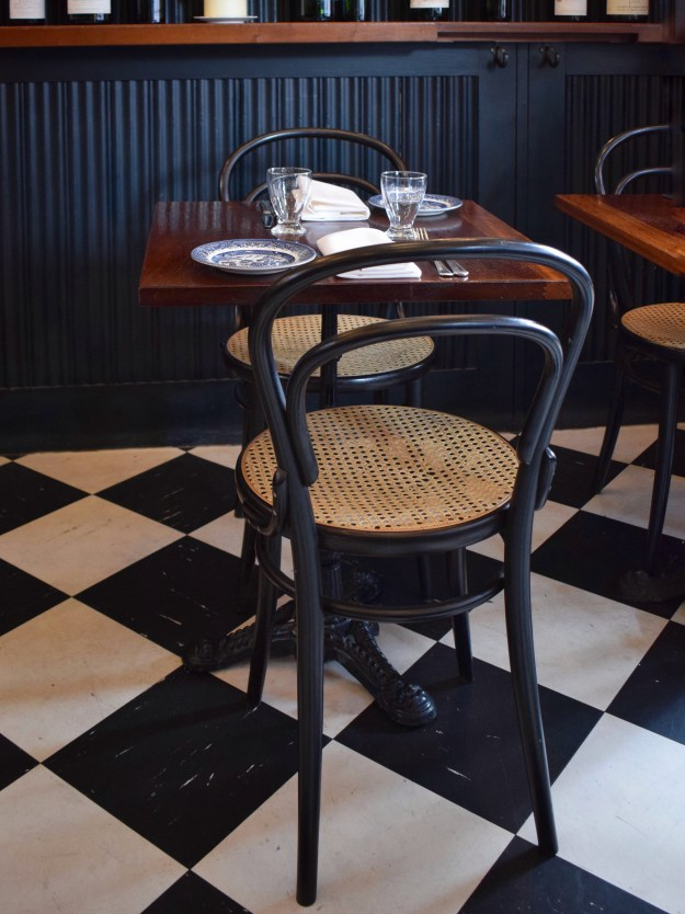 Quality Chop House London, English bistro interiors, rattan cafe chair