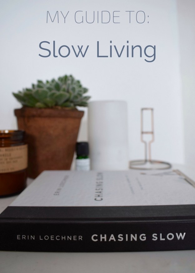 chasing slow book review, slow living small luxuries succulent, candles, diffuser