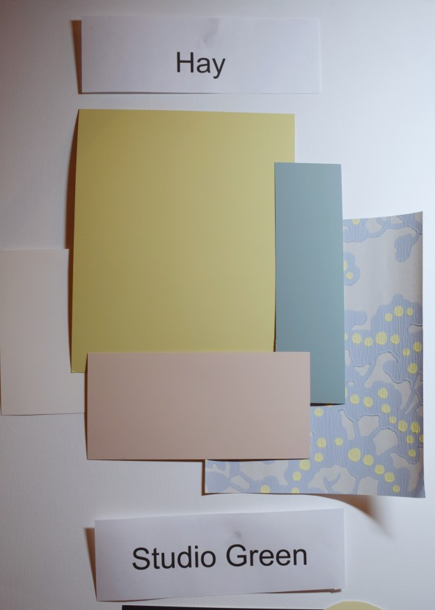 Farrow and Ball colour demonstration, shades that work with Hay