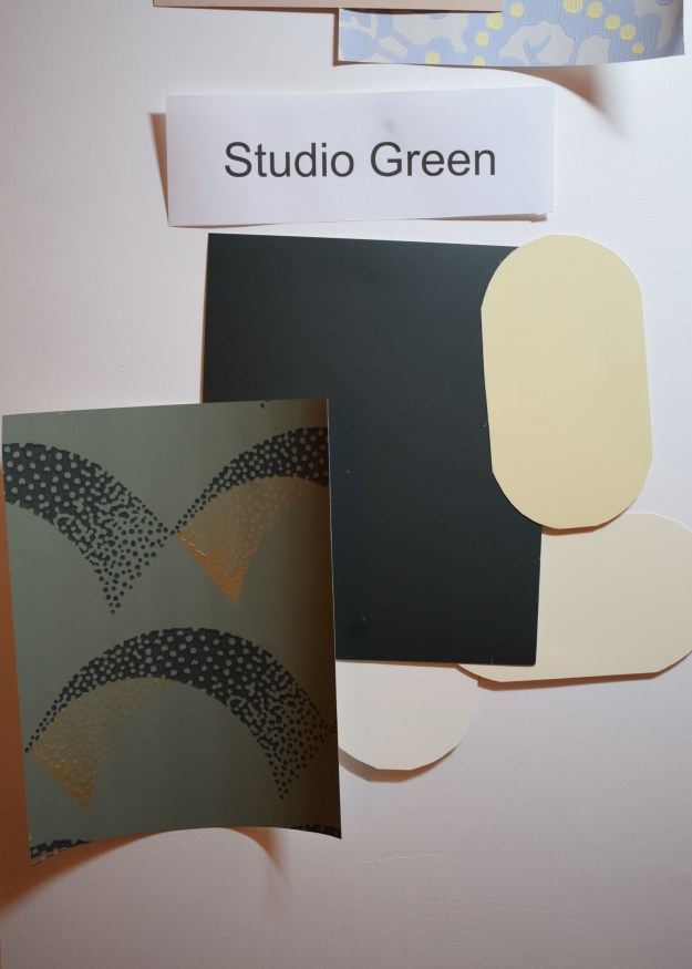 Farrow and Ball colour demonstration, shades that work with Studio Green