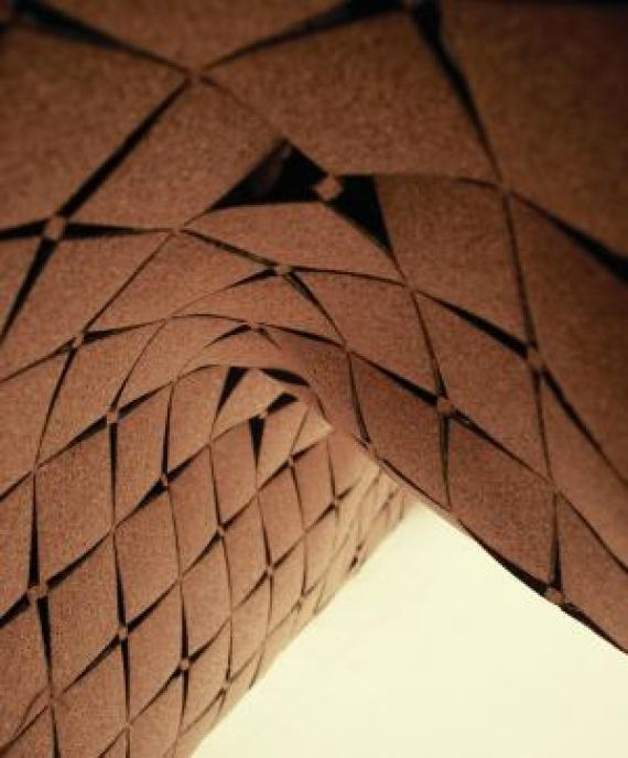 laser cut cork surface, cork interiors trend ideas, uses and inspration in interior design and home decor