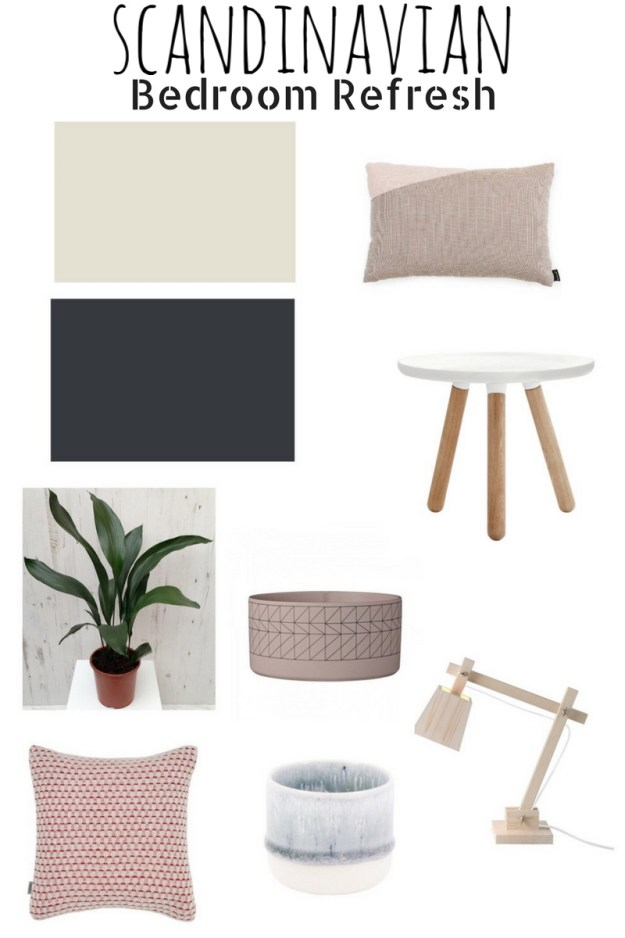 ideas and inspiration home decor - Scandinavian bohemian white and soft tones natural elements bedroom moodboard