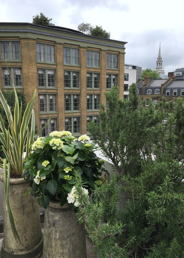 Clerkenwell Design Week 2017 -Devol Kitchens townhouse view from roof garden