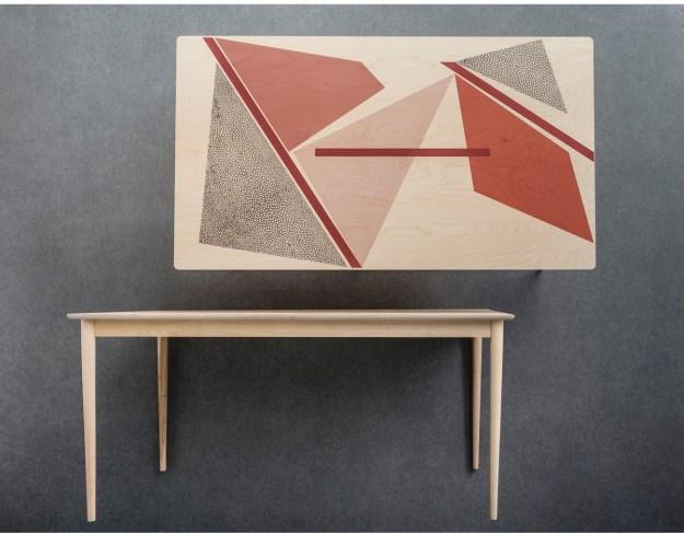 PETITE FRITURE la redoute Delphine Miquel Gio Silk-Screen Printed Table