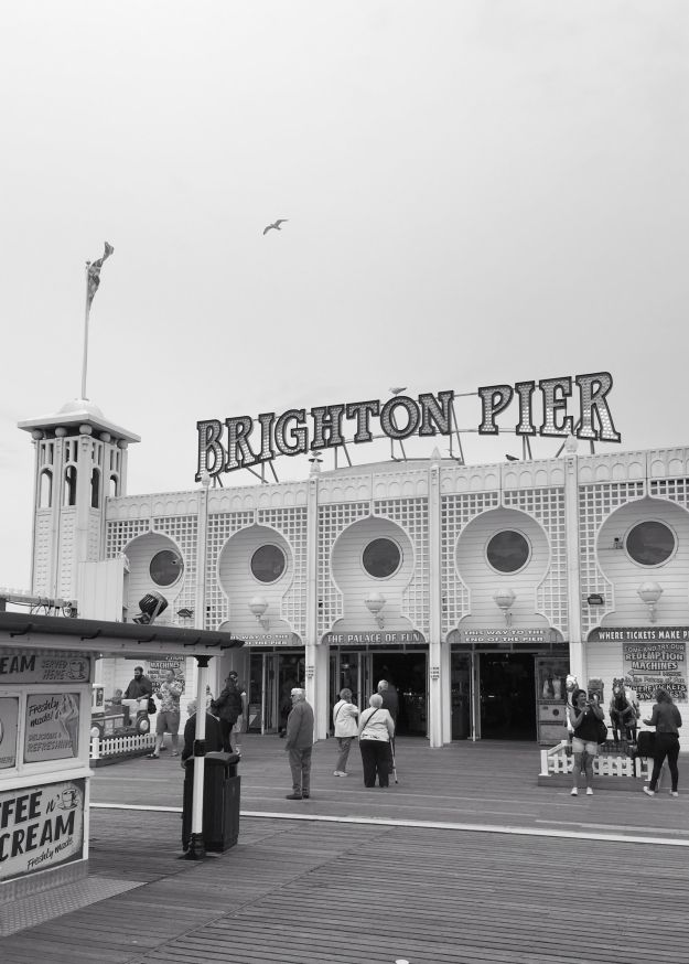 Brighton Pier Black & White