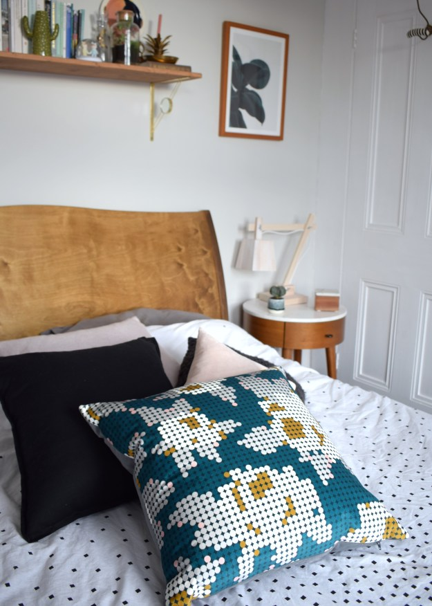 Eley Kishimoto for Kirkby Design Peg Rose textile cushion from Sweetpea & Willow