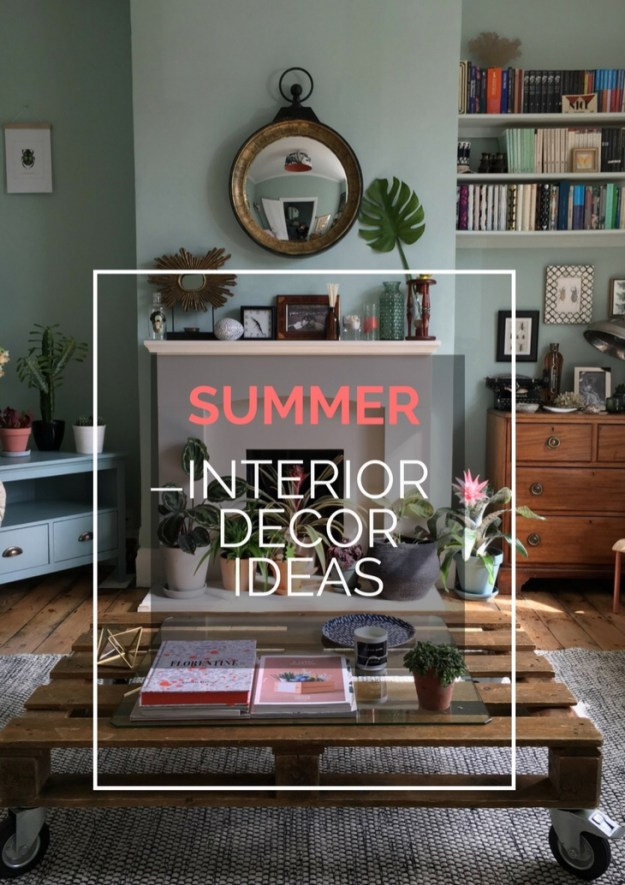 ecelectic modern bohemian summer interiors styling ideas and inspiration, botanical plant display
