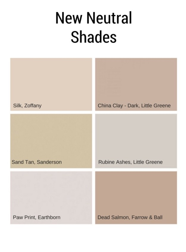 Interiors Paint Colours - The New Neutrals - Taupe, Greige and Clay,