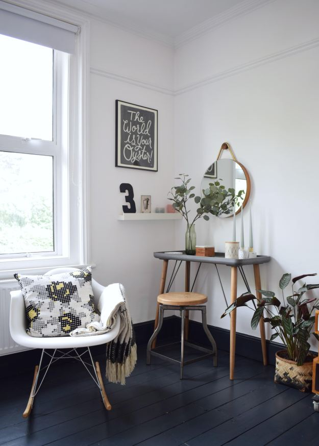 using textiles to create mood in an interior scheme, scandinavian monochrome bohemian decor