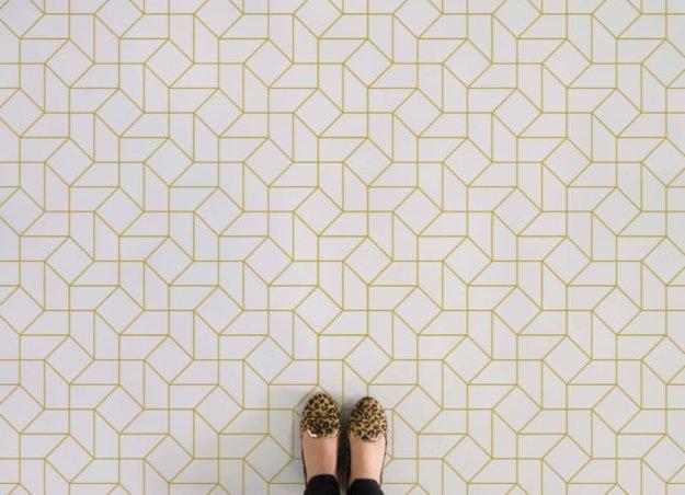 Atrafloor octavius-feet Patterned Vinyl Flooring options, ideas and inspiration for interior decor