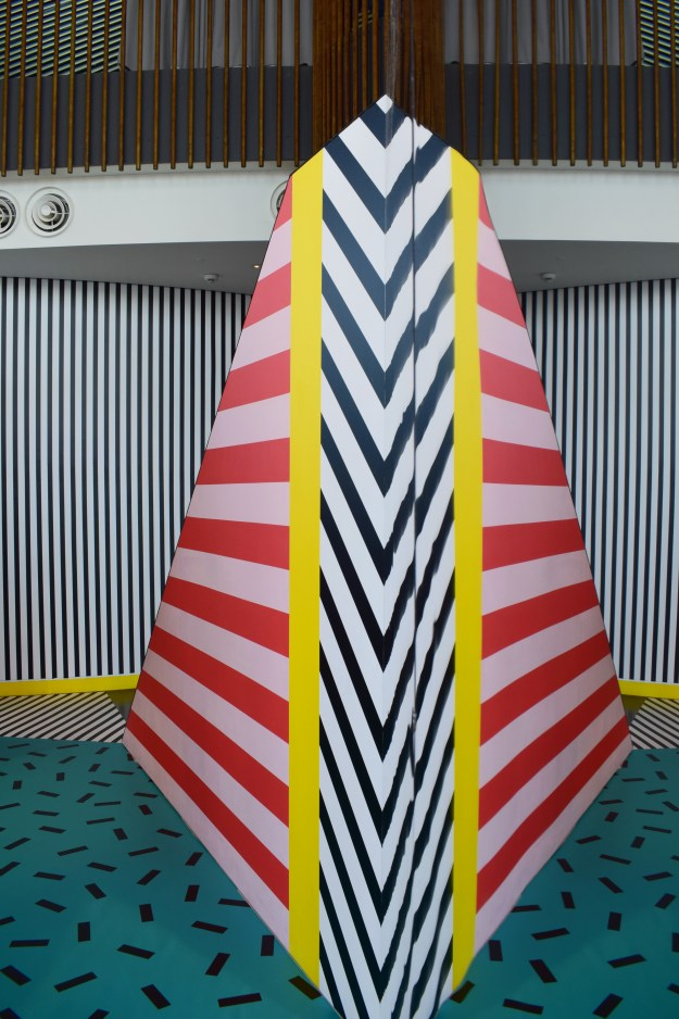Camille Walala installation at Now Gallery, colour hunting, pattern, mark and line making, current de (5)