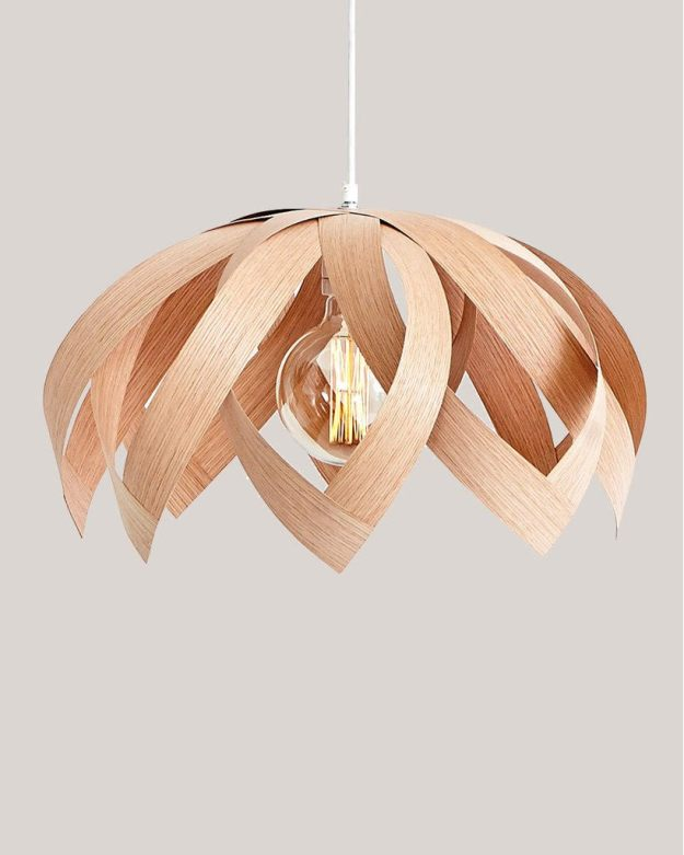 New Store Nordic Kind, Scandinavian Homewares LOTUS OAK - WOODEN VENEER LAMP - PENDANT LIGHTING