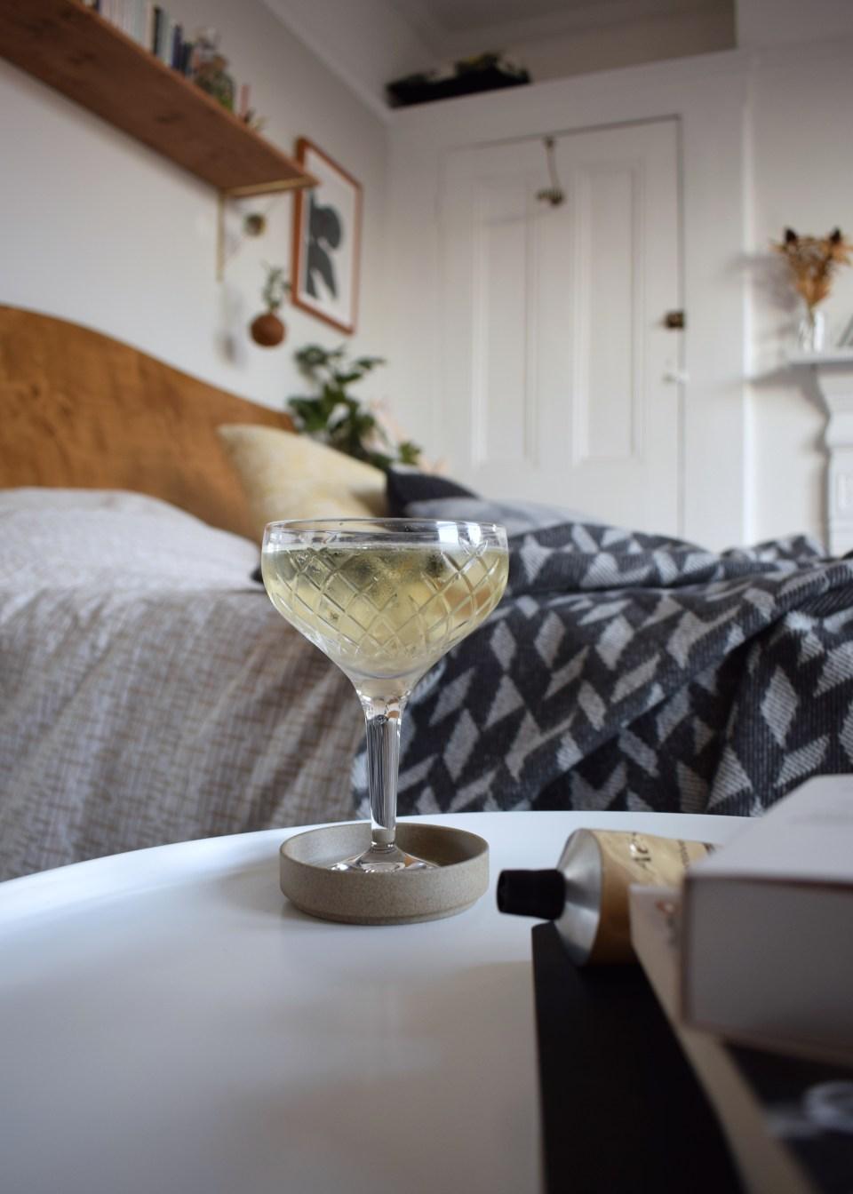 ohn Lewis Soho Home Barwell range, bohemian blue cocktail room, champagne coupee in scandinavian interior style bedroom, decor ideas (2)