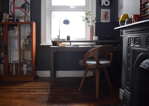 MADE Desk Story Zeke bloggers grey modernist home tour of office