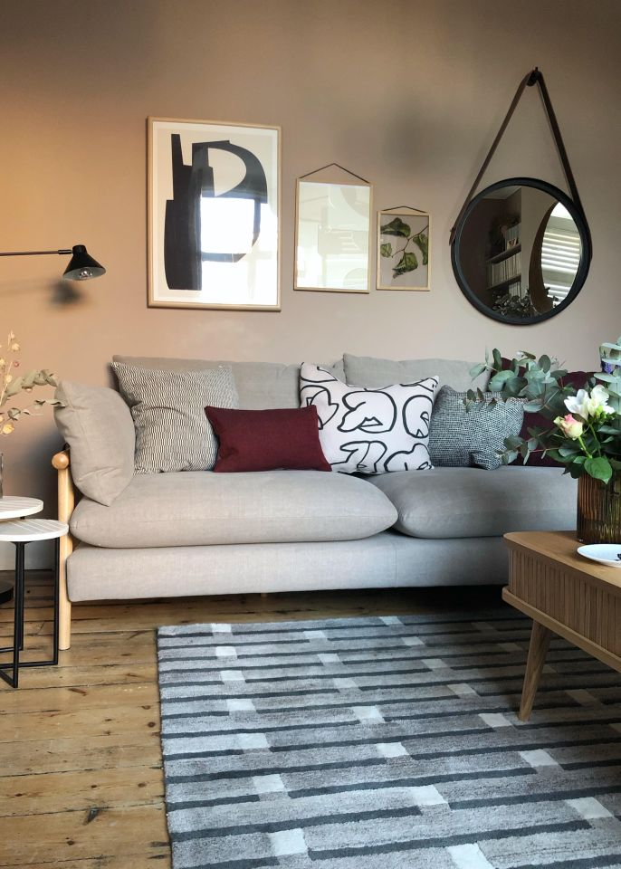 DFS Hoxton Sofa in the Design Soda House French Connection Home