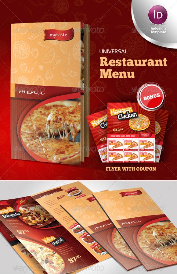 restaurant menu ideas