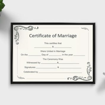 Editable Marriage Certificates – Design Your Own Certificate