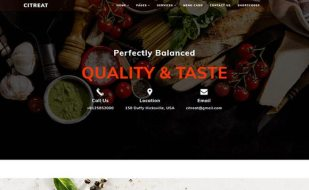 free website template for food and restaurant businesses