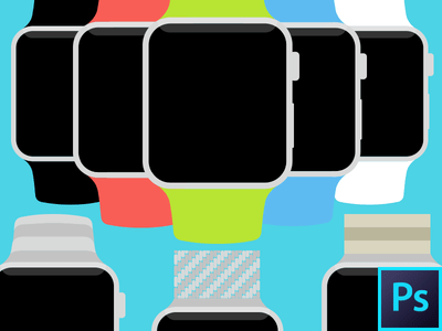 Apple-Watch-Flat-PSD-Template