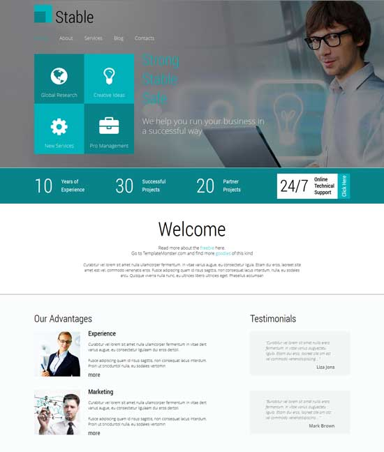 free html5 responsive template for consulting firm