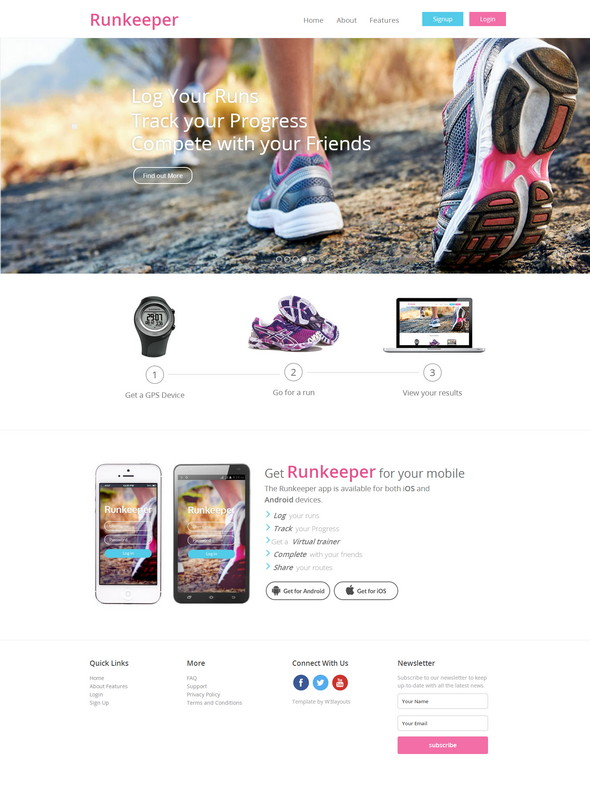 Runkeeper-Website-Template